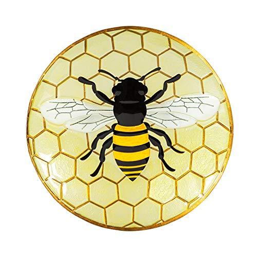 Bee Bath - Evergreen Garden Bee 18 inch Glass Bird Bath Bowl