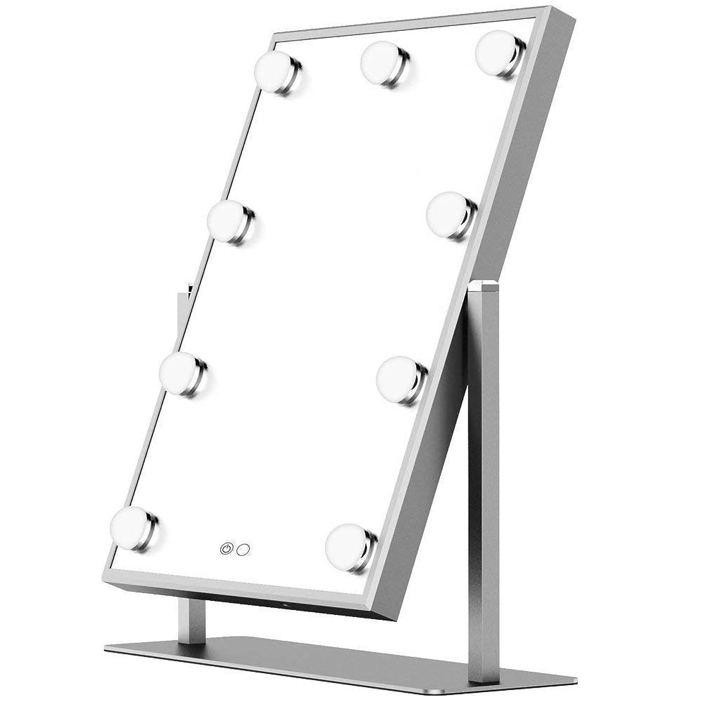 加入眠りコイルJerrybox 鏡 化粧鏡 卓上鏡 大型 led 鏡 フルフレームLEDライト スタンドミラー 拡大鏡付き (BM-1711 (スタンド式))