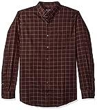 Van Heusen Men's Big Tall Traveler Stretch Long Sleeve Non Iron Shirt, Red Pinot Noir Plaid, 3X-Large