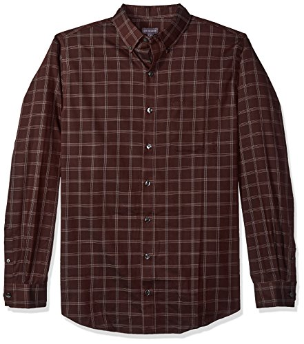 (Van Heusen Men's Size Big and Tall Wrinkle Free Poplin Long Sleeve Button Down Shirt, Red Pinot Noir Plaid, 3X-Large )