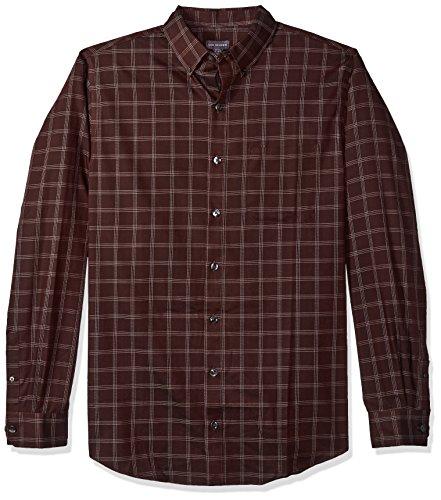 Van Heusen Men's Tall Traveler Stretch Non Iron Long Sleeve Shirt, Red Pinot Noir, 3X-Large Big
