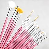 15Pcs Drawing Nail Art Brush Pens Set Nail Brushes Nail Polish Painting Drawing Brushes Manicure Tools Kit 5pcs