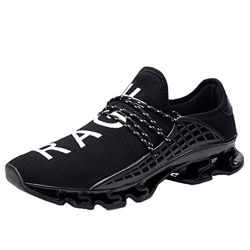 iHPH7 Shoes Running Elastic Mesh Sneakers Casual Sport Athletic Breathable Running Shoes Outdoor Men (43,Black)]()