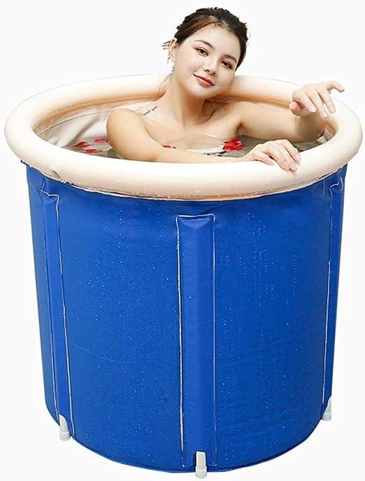 ZQ – Bañera Plegable para Adultos, bañera de plástico Hinchable ...
