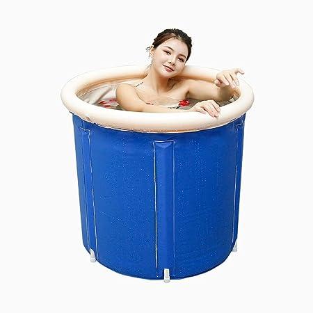 ZQ - Bañera Plegable para Adultos, bañera de plástico Hinchable ...