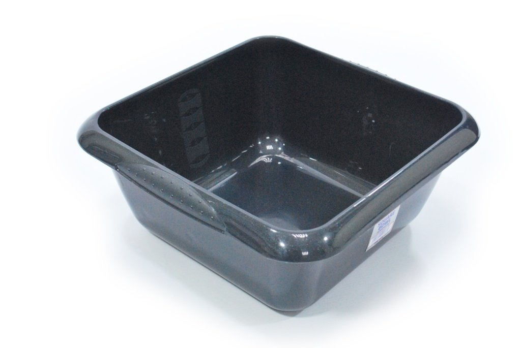 TML Square Washing UP Bowl 5L - Graphite 25 x 25cm Stax