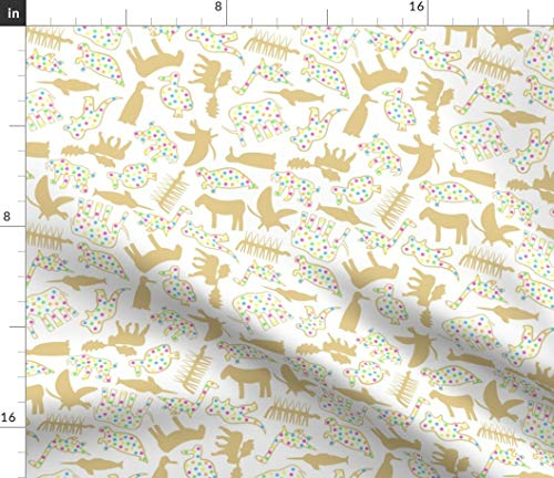 - Extinct Animal Crackers Fabric - Extinct Animal Endangered Cookies Crackers Animals Sprinkles Nursery Decor by Modgeek Printed on Petal Signature Cotton Fabric by The Yard