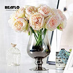 1Bunch European Artificial Flower Fake Peony Bridal Rose Bouquet Christmas Wedding Party Home Decoration 47