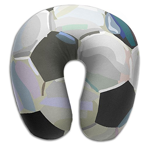 Neck Pillow With Resilient Material Soccer Painting U Type Travel Pillow Super Soft Cervical Pillow by Summer Park