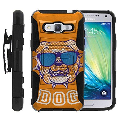 Samsung Galaxy J3 Case, Express Prime, Amp Prime Case, Samsung Galaxy Sol, J3V [Clip Armor] Impact Hard Rubber Durable Unique Creative Cover + Belt Clip by Miniturtle - Orange Bulldog (Armor Express Bulldog compare prices)