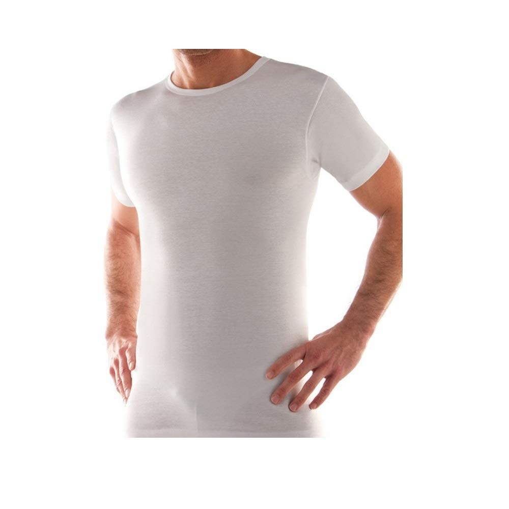 3 t-shirt corpo uomo bianco caldo cotone LIABEL mezza manica girocollo 02828/e23 …