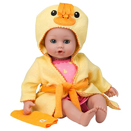 "Adora BathTime Baby ""Ducky"" 13 Fun Kids BathTub Water / Shower / Swimming Pool Time Play Soft Cuddly Toy Play Doll for Toddler Kids & Children 1+"