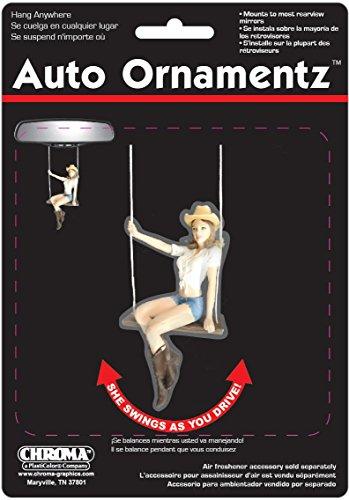 (Chroma 000804 'Cowgirl Swinging' Auto Ornament)