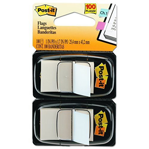 Post It Standard Page Flags In Dispenser  1In Wide  White 100 Flags  680 We2