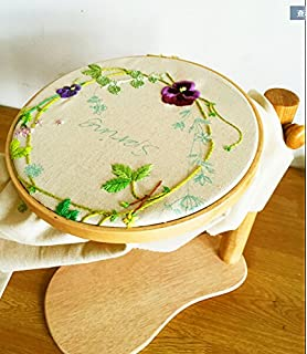 wrmhom 1102inch embroidery hoop dia 28cm high adjustable wooden lep embroidery frames cross stitch frame - Embroidery Frames