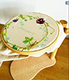 8.27Inch Embroidery Hoop Dia 21cm High Adjustable Wooden Standing Leg Embroidery Frame Solid Wood Cross Stitch Rack