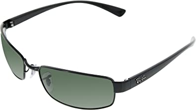b8bd0e47e26 Amazon.com  Ray-Ban Mens Sunglasses (RB3364) Black Green Metal - Non ...