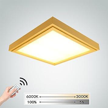 Lámpara De Madera LED De 24W Lámpara De Techo Redonda ...
