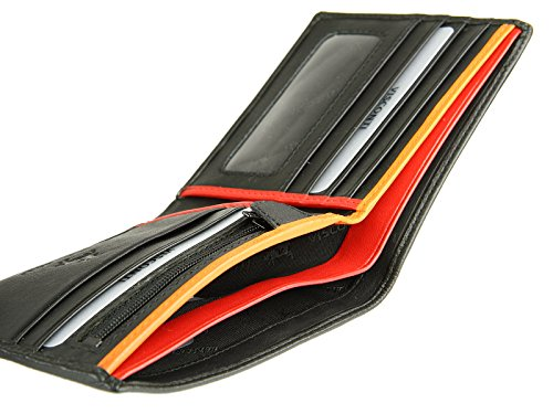 Bond Banknotes Leather BD707 Red Orange Visconti Orange Mens Red Cards Gents Wallet For Credit aA8Rwx4q