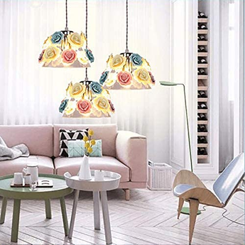 Loft,Villa Plant Glass Chandelier Creative Single Head Dining Room Dining Hotel Bedside Lighting