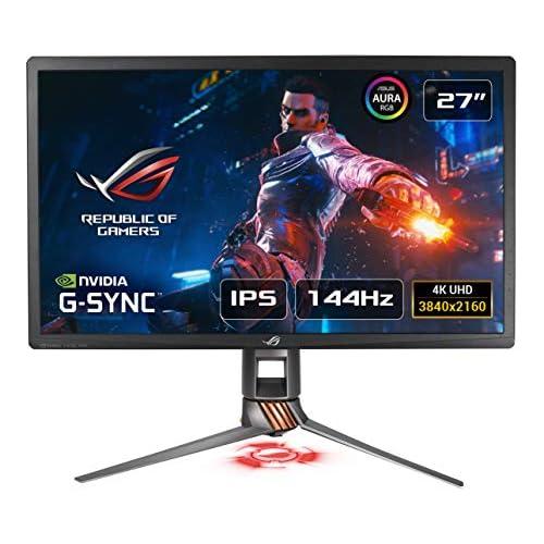 chollos oferta descuentos barato ASUS ROG Swift PG27UQ Monitor de Gaming 4K UHD 3840 X 2160 144 Hz OC G Sync HDR Punto Cuántico IPS Aura Sync HDMI USB 27 68 6cm