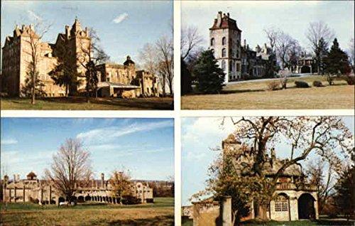 Henry C. Mercer Buildings: Mercer Museum, Fonthill, Moravian Tile Works, Carriage House Original Vintage Postcard
