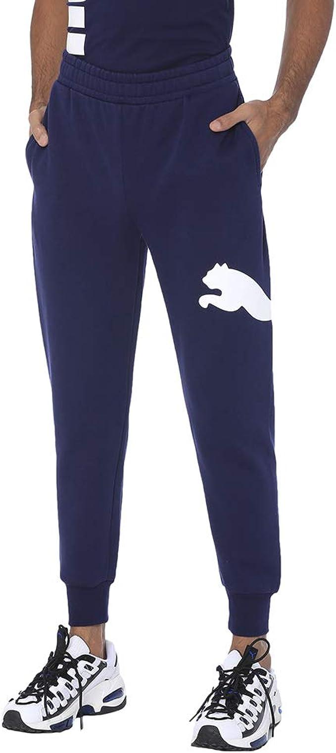 PUMA Big Logo Pants FL Pantalones Negros para Hombre 58056901