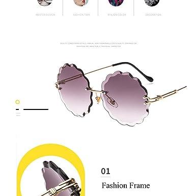Amazon.com: 2019 Gafas de sol redondas para mujer, gafas de ...