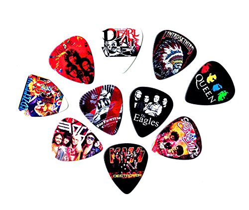 Legendary Bands Guitar Picks Volume II(10 medium picks in a packet)(For Music Lovers) ()