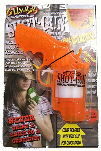 Billy Bob Orange See Through Russian Roulette Shot Gun Drinking Game