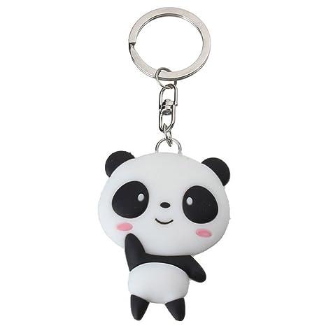 bleumoo silicona Cartoon Panda llavero llavero bolsa ...