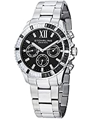 Stuhrling Original Womens 591.02 Vogue Coronia Analog Display Swiss Quartz Silver Watch