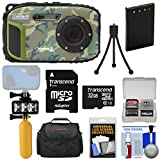 coleman coolers camo - Coleman Xtreme3 C9WP Shock & Waterproof 1080p HD Digital Camera (Camo) with 32GB Card + Battery + Diving LED Video Light + Buoy Handle + Case Kit