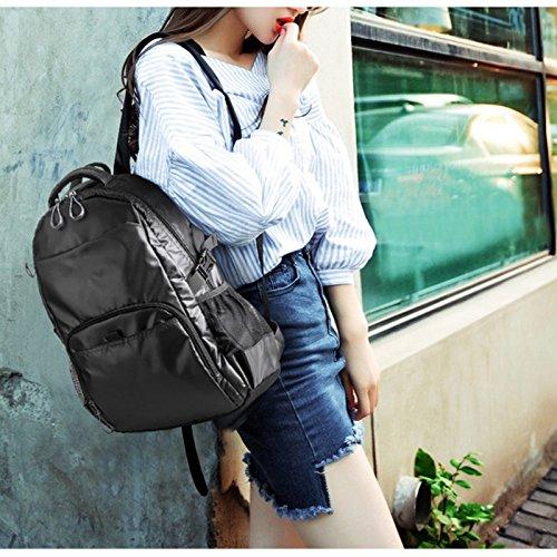 Bolsos de hombro hombres y mujeres moda tendencia Corea casual de la escuela media bolsa de estudiantes bolsa de tela ordenador hombres y las mujeres impermeables viaje mochila