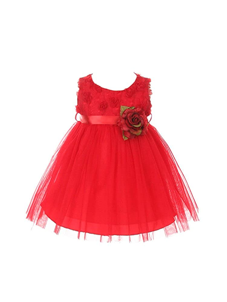 My Best Kids Soft Rosebud Appliqu? Taffeta Bodice Flower Girl Dress MB0278A