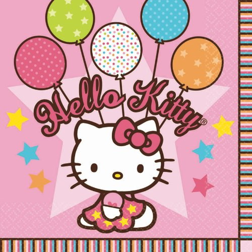 Luncheon Napkins   Hello Kitty Balloon Dreams Collection   Party Accessory