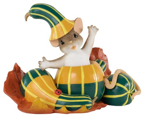 Enesco Charming Tails Halloween Out of My Gourd for You Figurine, 3-Inch