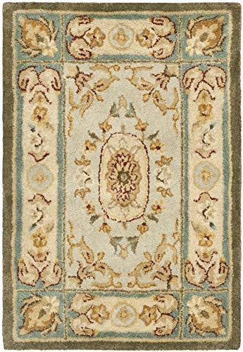 Safavieh Bergama Collection BRG174A Handmade Light Blue and Ivory Premium Wool Area Rug (2' x 3') (Bergama Brg174a Light)