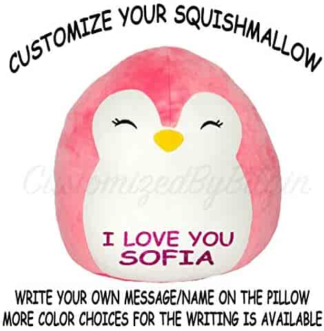 2514c3a6433d Squishmallow Customized Original Kellytoy Piper The Pink Penguin 8
