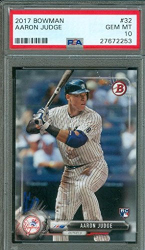 2017 Bowman Aaron Judge #32 PSA 10 Gem Mint Rookie for sale  Delivered anywhere in USA
