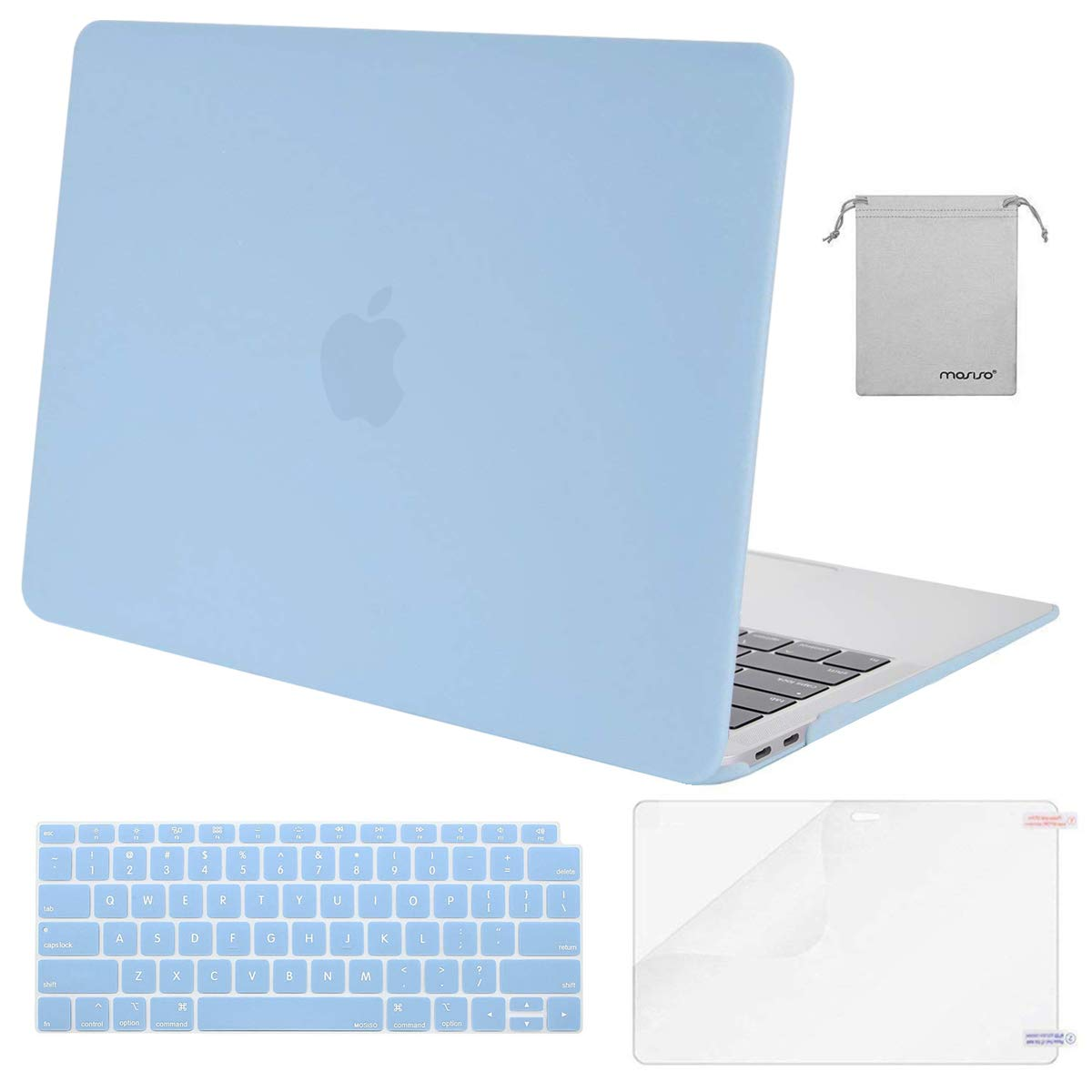 MOSISO MacBook Air 13 inch Case 2020 2019 2018 Release A2337 M1 A2179 A1932, Plastic Hard Shell&Keyboard Cover&Screen…