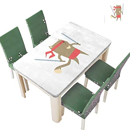 Amazon.com: Printsonne Table in Washable Polyeste Crime ...