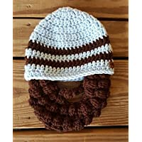 Bearded Baby hat - Funny Children's Hat - Toddler Winter Hat Baby Photo Prop FREE SHIPPING IN US