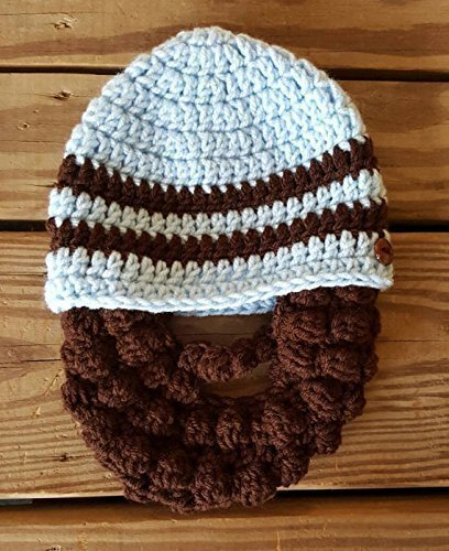 Bearded Baby hat - Funny Children's Hat - Toddler Winter Hat Baby Photo Prop FREE SHIPPING IN US -