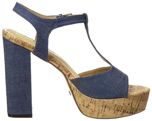 MARIA MARE Mareta, Sandalias con Tira a T para Mujer Azul (Denim Azul)