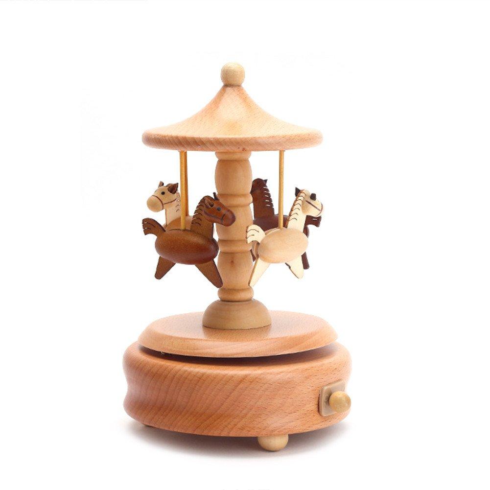 激安価格の かわいい木製Clockwork音楽ボックスWind B07DPL86H7 Up Carousel Musicalボックスとして誕生日ギフト、クリスマスギフトの恋人友達と子 B07DPL86H7 Up Carousel, カベコレ壁紙コレクション:c6eb42b3 --- arcego.dominiotemporario.com