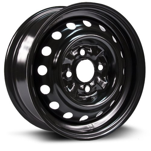 RTX, Steel Rim, New Aftermarket Wheel, 13x5 4-100 59.1 +40, black finish X99108N 1988 Nissan Sentra Wheel
