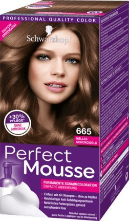 Schwarzkopf Perfect Mousse Permanent Hair Color 665 Bright Chocolate -