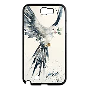 High Quality Phone Case For Samsung Galaxy Note 2 Case -White dove-LiuWeiTing Store Case 5