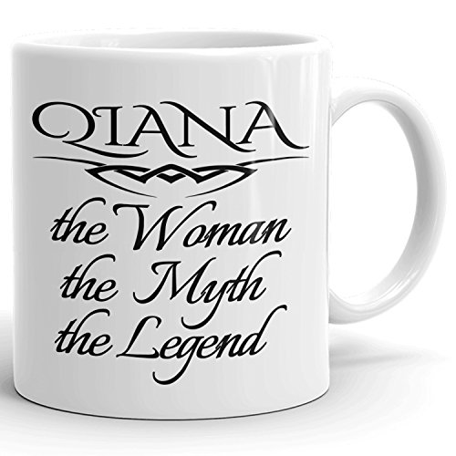 Best Personalized Womens Gift! The Woman the Myth the Legend - Coffee Mug Cup for Mom Girlfriend Wife Grandma Sister in the Morning or the Office - Q Set 1